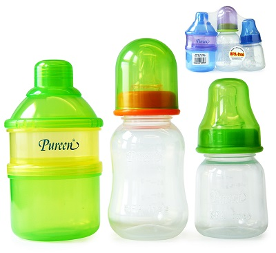 Infant Set - 2T Dispenser + Feeding Bottles (2oz & 4oz) (BBF 23)